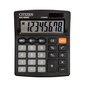 CITIZEN SDC805BN Tischrechner schwarz, 8-stellig