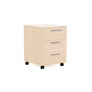 Nowy Styl Easy Space mobiler Container 3 Schubladen 60 x 60 x 43 cm, Ahorn
