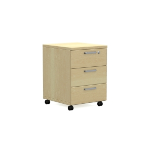 Nowy Styl Easy Space mobiler Container 3 Schubladen 60 x 60 x 43 cm, heller Sand