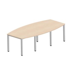 Easy Style Nowy Styl großer Konferenztisch 8 Füße, 240 x 120 x 72 cm, Ahorn