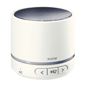 Leitz Tragbarer mini Bluetooth Lautsprecher mit Mikrophon, grau