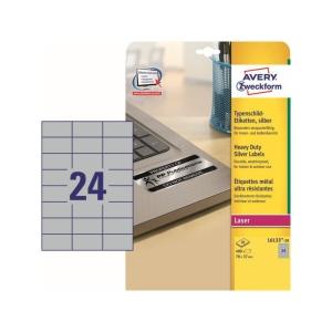 BX480 Avery L6133 Sehr resistente Etiketten 70x37 mm
