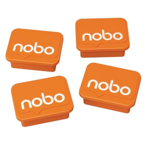 Magnety Nobo, 30 mm, orange, 4 Stück