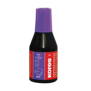 KORES 71348 Stempelfarbe 28 ml violett