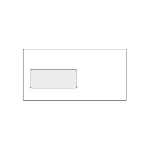 Briefumschläge C5/6, mit Fenster, Haftklebung, 80g, weiß, 100 Stück