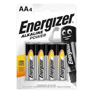 Energizer Alkaline Power Batterien, AA / LR06 4 Stück in Packung