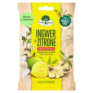 Willi Dungl Kräuterbonbons Ingwer und Zitrone, 68 g