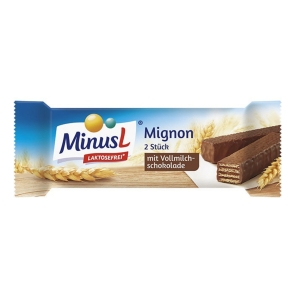 Minus L Mignon Riegel Schokoladengeschmack, laktosefrei, 30 g