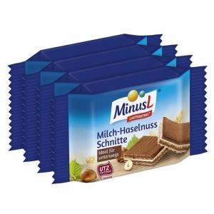 Minus L Milch-Haselnuss-Schnitte, laktosefrei, 25 g, 4 Stück