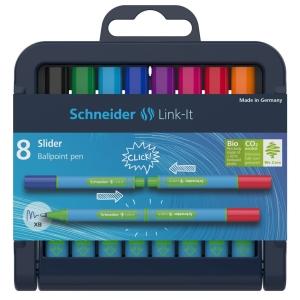 Schneider Link-It Slider, 8x Kugelschreiber, Farbmix
