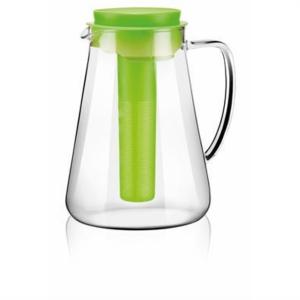 Tescoma Teo Krug mit Sieb und Kühleinsatz, Glas, 2.5 l, grün