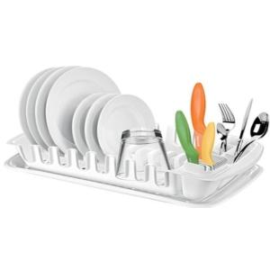 Tescoma Clean Kit Abtropfgestell mit Auffangschale, weiß