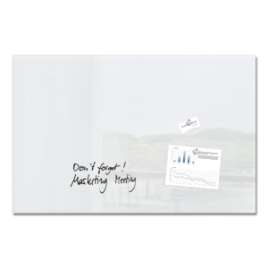 Sigel Artverum Glas-Magnetboard, 100 x 65 cm, super-weiß
