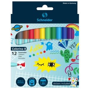 Fasermaler Schneider Colorina B, farbenmix