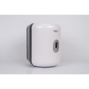 Spender für Tücher mit Innenabrollung, mit Schneidmesser, weiß transparent matt