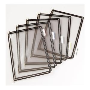 t-display Industrial Tarifold Drehzapfentafeln A4, schwarz, Packung mit 10 Stück