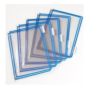 t-display Industrial Tarifold Drehzapfentafeln A4, blau, Packung mit 10 Stück