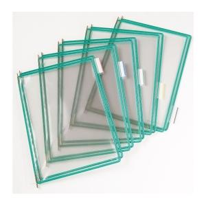 t-display Industrial Tarifold Drehzapfentafeln A4, grün, Packung mit 10 Stück