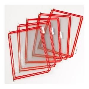 t-display Industrial Tarifold Drehzapfentafeln A4, rot, Packung mit 10 Stück