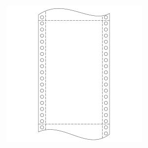 Krpa Computer-Endlospapier, 60 g/m², 24 × 30,5 cm, 1-fach