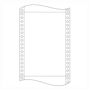 Krpa Computer-Endlospapier, 54 g/m², 24 × 30,5 cm, 2-fach