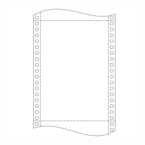 Krpa Computer-Endlospapier, 54 g/m², 25 × 30,5 cm, 2-fach