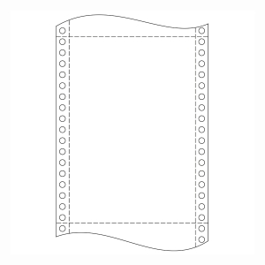Krpa Computer-Endlospapier, 54 g/m², 25 × 30,5 cm, 4-fach