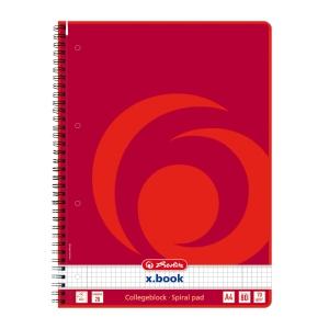 Herlitz Spiralblock mit hartem Umschlag A4 kariert, 80 Blatt