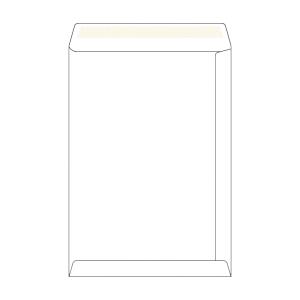 Weiße selbstklebende Versandtaschen B4 (250 x 353 mm), Packung mit 250 Stück