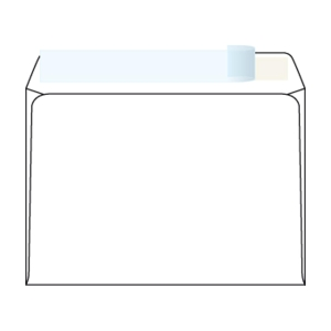 Weiße Briefumschläge - Haftabziehstreifen C6 (114 x 162 mm), 1000 Stück/Packung