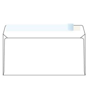 Weiße Briefumschläge - Haftabziehstreifen C5/6(110 x 220 mm),1000 Stück/Packung