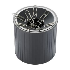 Helit magnetischer Büroklammernspender, schwarz