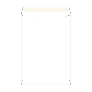 Weiße selbstklebende Versandtaschen B4 (250 x 353 mm), Packung mit 50 Stück