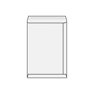 Weiße Briefumschläge B4 (250 x 353 mm), Packung mit 50 Stück