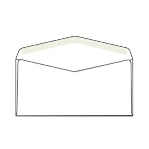 Weiße Briefumschläge B6 (176 x 125 mm), 50 Stück/Packung