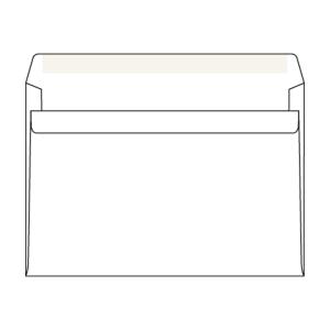Weiße selbstklebende Briefumschläge C5 (162 x 229 mm), Packung mit 50 Stück