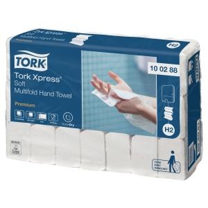 Tork 100288 Premium Falthandtücher H2, 2-lagig, weiss, 21 Bündel à 110 Tücher
