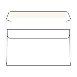Weiße selbstklebende Briefumschläge C6 (114 x 162 mm), Packung mit 50 Stück