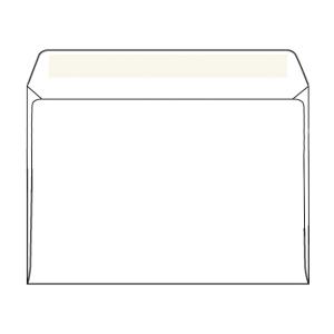 Weiße Briefumschläge C6 (114 x 162 mm), Packung mit 50 Stück