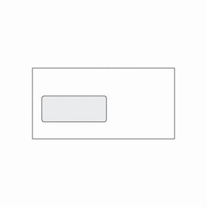 Weiße Briefumschläge mit Fenster - links C5/6(110 x 220 mm), 50 Stück/Packung