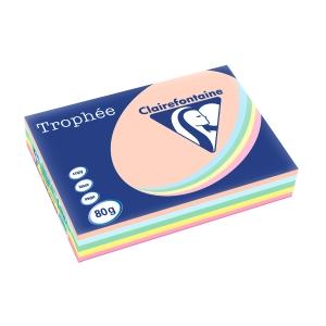 Trophee Farbpapier, A3, 80 g/m², Pastellmix, 500 Blatt
