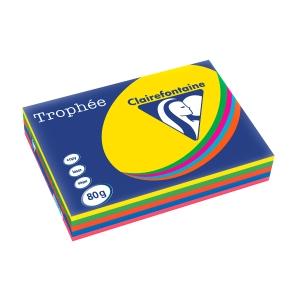 Trophee Farbpapier, A3, 80 g/m², Leuchtmix, 500 Blatt