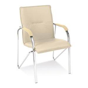 Samba chrome Konferenzstuhl, beige, Tragfähigkeit: bis 110 kg