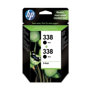 Tintenpatrone HP CB331EE - 338, Reichweite: 450 Seiten, schwarz, 2 Stück