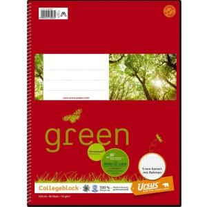 Ursus Basic College Notizblock, A4, 80 Blatt, kariert