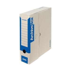 Emba farbige Archivboxen blau, Rückenbreite: 7,5 cm
