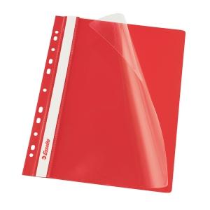 Esselte rote Präsentationshefter mit Lochrand A4