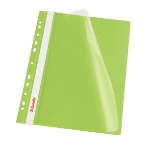Esselte grüne Präsentationshefter mit Lochrand A4