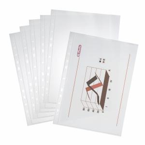 Herlitz glatte Prospekthüllen A4 45 Mikron, Packung mit 100 Stück