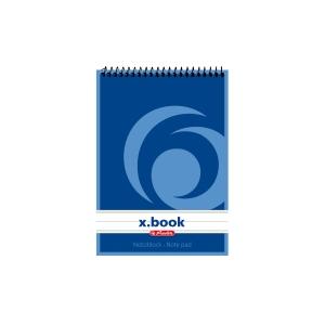 Herlitz Top Spiral-Notizbuch A6 50s, liniert